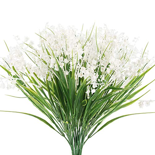 Flores Artificiales Exterior Blancas flores artificiales  Marca NAHUAA