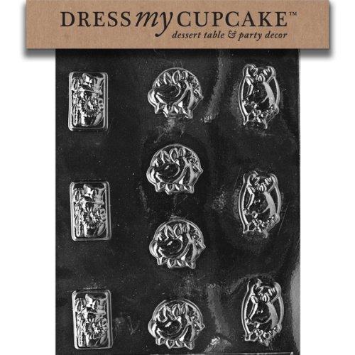 Dress My Cupcake DMCC008SET - Stampo per cioccolatini, con pupazzo di neve, confezione da 6