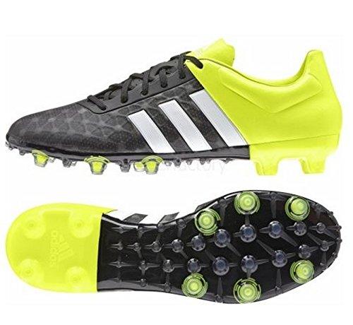 adidas Ace 15.2 Firm Artificial Ground Herren Fußballschuhe, Nero (Noir (Core Black/White/Solar Yellow)), 44 EU