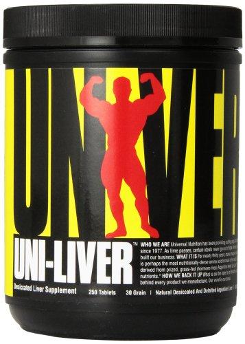 Universal Uni-Liver Gefriergetrocknete Rinderleber 1500mg Aminosäuren B-Komplex Mineralien Spurenelementen 250 Tabletten