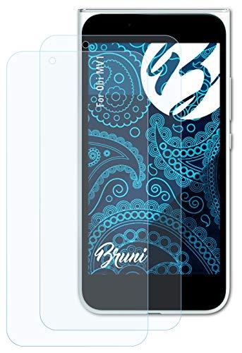 Bruni Schutzfolie kompatibel mit Obi MV1 Folie, glasklare Bildschirmschutzfolie (2X)