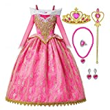 Princess Aurora Costumes Little Girls Sleeping Beauty Dress Up Cosplay Halloween Christmas