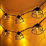Afirst Decorative String Lights Industrial-Style - Vintage Hanging Lights Connectable Waterproof Outdoor Lantern String Lights for Bedroom Backyard Party Lighting 10FT
