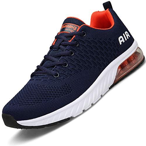 Mabove Laufschuhe Herren Damen Turnschuhe Sportschuhe Straßenlaufschuhe Sneaker Atmungsaktiv Trainer für Running Fitness Gym Outdoor(Blau/HK82,42 EU)