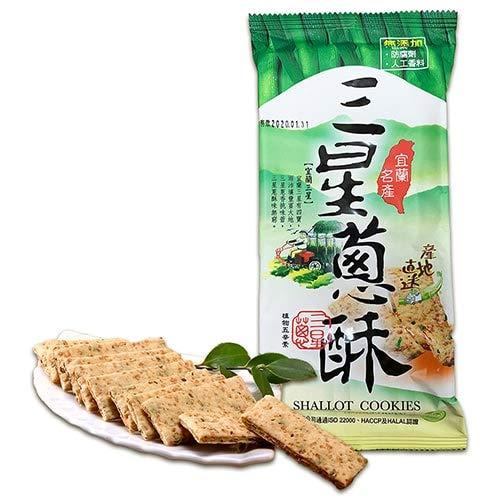 台湾 三星葱酥(葱クラッカー)宜蘭名産 【康成食品】 (1袋)