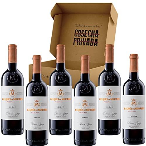 Marqués de Murrieta Reserva - Envío Gratis 24 H - 6 Botellas - Rioja - Estuche Regalo Vino - Seleccionado y enviado por Cosecha Privada