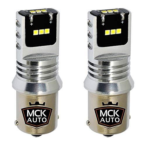 MCK Auto - Remplacement pour Set d'ampoules blanches P21W LED CanBus très clair et sans erreur compatible avec A1 A3 F30
