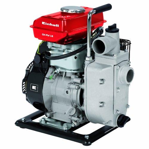 Einhell GH-PW 18 Waterpomp op benzine, 1,8 kW, max. 12000 l/u, max. opvoerhoogte 20 m, incl. 2 slangadapters, 1 zuigmand en 2 verloopstukken).