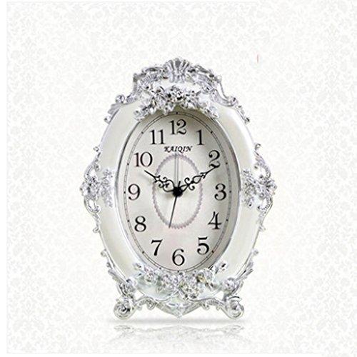 Horloge de table Horloge mode créative personnalité européenne chambre calme table de chevet horloge salon horloge Pendules et horloges