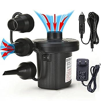 Electrique Gonfleur Dégonfleur 2 en 1 Pompe Électrique, Pompe à Air Gonfleur/Degonfleur avec 3 Buses pour Matelas,Pompe à air électrique pour lit Gonflable, aéroglisseur, Bassin de Rame