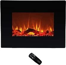 corner tv next to fireplace
