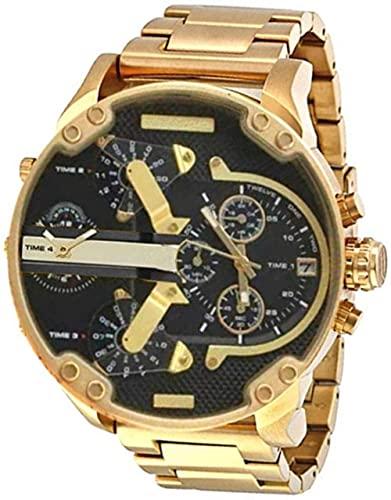 Qiyifang Hombre Reloj con Personalidad Sphere Tendencia Reloj Reloj de Cuarzo con Banda portátil de Acero Inoxidable-D