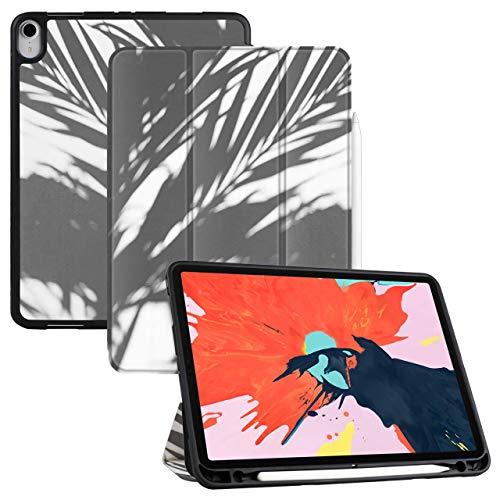 Aidashine Ipad Pro 11 Inch 2018 Hoesje met Potloodhouder- Leuke Cartoon Soft Back Cover En Trifold Stand met Auto Sleep/Wake, Ondersteuning 2Nd Gen Potlood Opladen, Schaduw