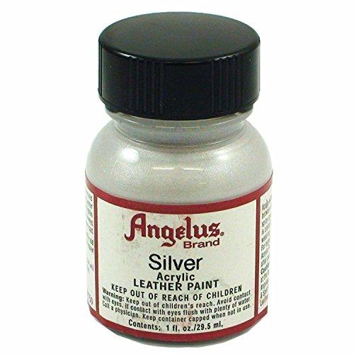 Angelus Acrylic Leather Paint - 1 Ounce, Silver
