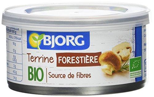 Bjorg Terrine Forestière Bio 125 g - Lot de 4