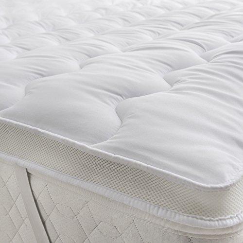 Home Sweet Home UK Ultra Soft Air Fresh Microfiber Mattress Topper Dual layer Quality Comfort Sleep
