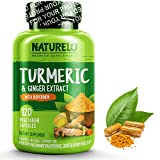 ORGANIC TURMERIC CURCUMIN: Advanced Turmeric complex including organic Non-GMO Turmeric Root Powder with 95% Curcuminoids to support a healthy inflammation response. ENHANCED ABSORPTION: This Turmeric supplement includes BioPerine, a Black Pepper Ext...