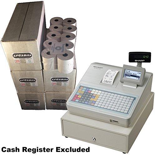 eposbits® Marke Rollen zu für Sharp xe-a217W xea-217W xea217W xea217xe-a217xea-217W Cash Register?100Rollen