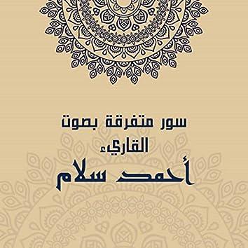 سور متفرقة بصوت القارئ أحمد سلام