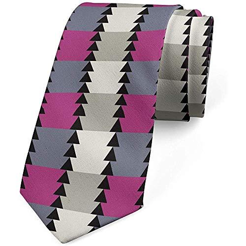 Corbata, patrón moderno triangular, cáscara de huevo magenta oscura