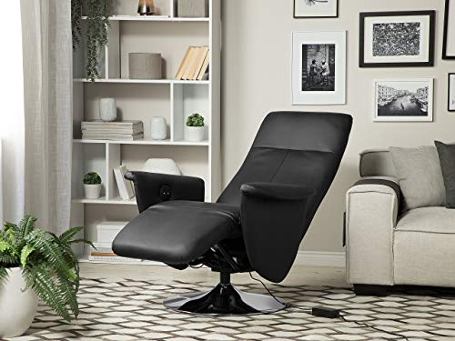 Beliani Eleganter Wohnzimmer Sessel Kunstleder schwarz Prime