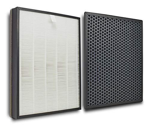 Supremery Juego de filtros de repuesto para purificadores de aire Philips AC3256/10, AC3259/10 y AC4550/10 | filtro HEPA y carbón activo | alternativa a los filtros Philips FY3432/10 y FY3433/10