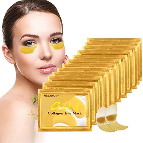 30 Paar Augenpads, Eye Mask, 24k Gold Kollagen Augenmaske, Collagen Augenpads Augenringe, Augenmaske Feuchtigkeit spendende, Anti Aging, entfernen Taschen, dunkle Kreise & Puffiness