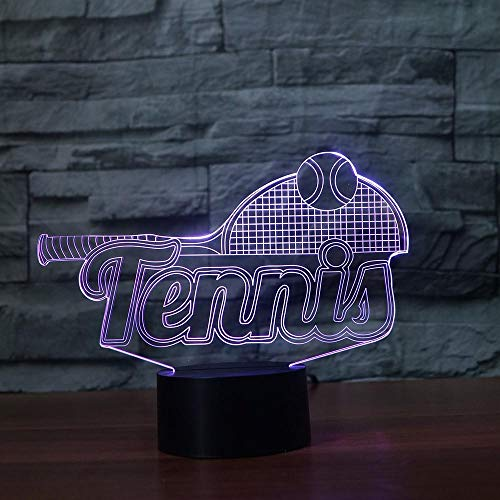 3D Tennis Racket Night Lights Suitable for Family Party Decoration to give The Best Gifts for Children Couples Kids