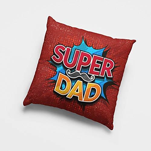 Cojín cuadrado 'Super Dad' para el Día del Padre.