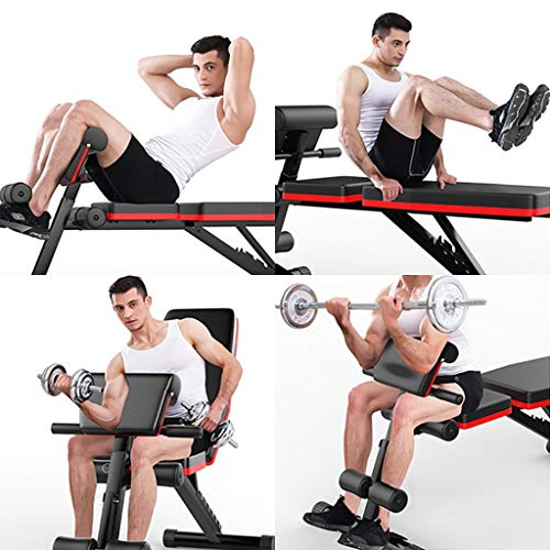 Qazqa Olympic Roman Chair-Adjustable Sit Up Bench, Full Body Exercise, Incline Decline Abs Core Workout,Flat Fly Weight Press,Dumbell Board for Home Gym Fitness