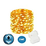 Stringa Luci Led A Batteria JP-LED®〖 5M 50 Led〗Catena Luminosa Impermeabile. Filo Lum...