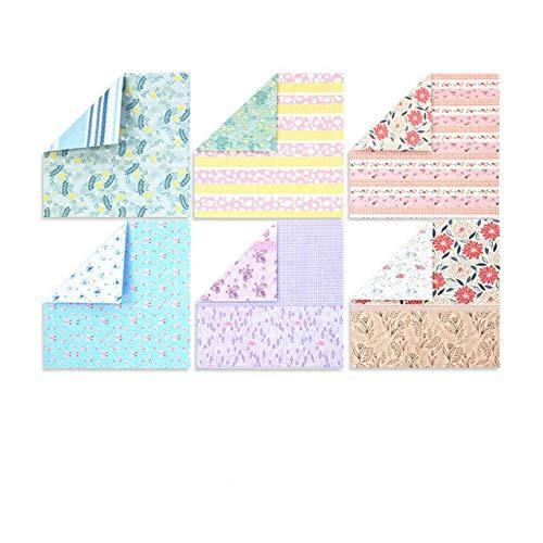 Papel de Origami Cuadrado Color de Doble Cara Manual para niños Manualidades Plegables álbumes de Recortes Materiales de Arte Decorativo - Serie Feliz