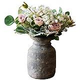 LXLH Jardinera de Arte Vintage, macetas de Estilo étnico, macetas de hormigón, jarrones de Plantas Verdes, jarrones Retro Hechos a Mano de Arte, macetas, vasijas de Flores, Planta Verde Creativa,