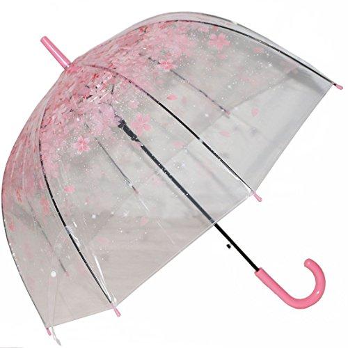 Ombrelli di bolla, Tinksky ombrello romantico Ombrello trasparente fantasia ombrello Maniglia lunga semiautomatica Ombrellone da spiaggia nozze