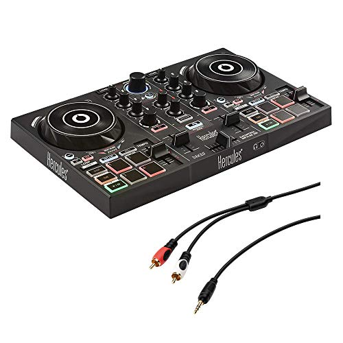 Hercules DJ Control Inpulse 200 with /8' Stereo Mini to Dual RCA Y-Cable (6') Bundle