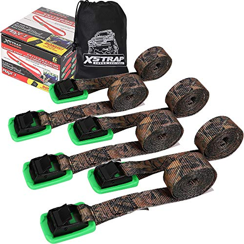 XSTRAP Padded Cam Lock Buckle 6PK 8FT Powersports Tie-Downs Camouflage
