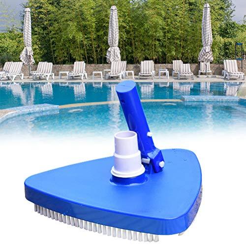 Jeyie Cepillo de limpieza de piscina, limpiador de piscina, cepillo de limpieza de vacío de piscina, herramienta de limpieza de piscina de cabeza de succión de piscina