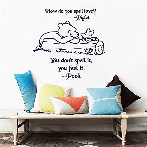 Stickers Mural Autocollant Winnie L'Ourson Et Porcinet Citation D'Art Pour Chambre D'Enfants Bébé Chambre Décor Chambre D'Enfants Décor À La Maison