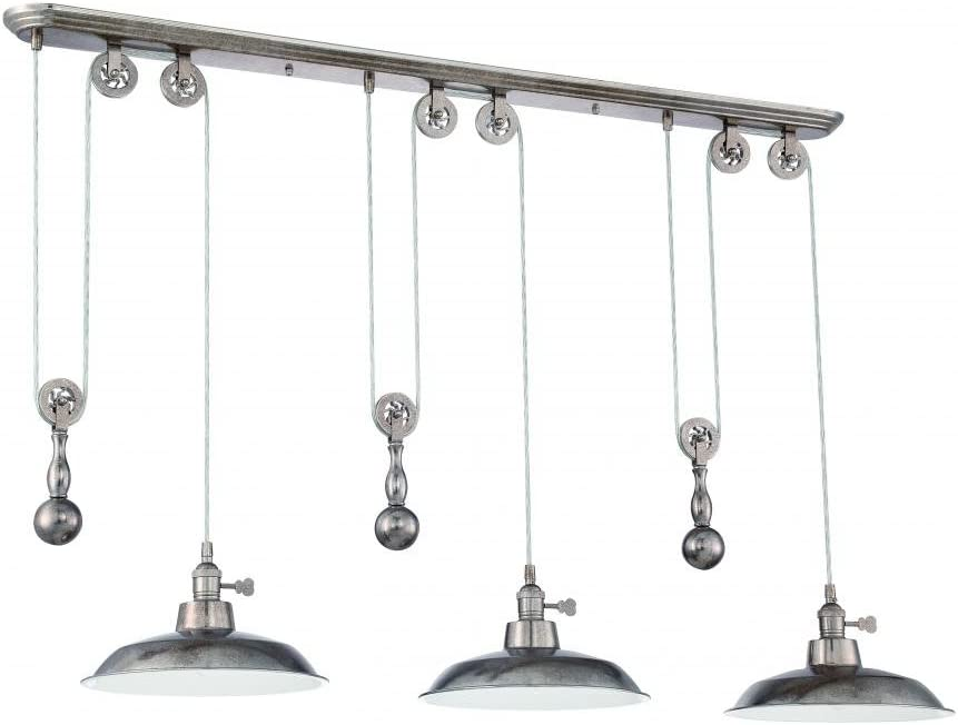 Craftmade P403-TS 3 Pendant Large special price Pulley All items free shipping Light