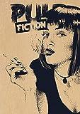 shuimanjinshan Pintura En Lienzo Película Pulp Fiction Póster Obra De Arte Pintura Pegatina De Pared para Decoración De Cafetería Y Bar Pq-2748 50X70Cm Sin Marco
