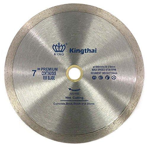Kingthai 7 Inch Continuous Rim Diamond Saw Blade for Cutting Porcelain...