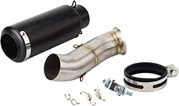 KYN for Ducati Hypermotard 821 2013 2014 2015 2016 2017 2018 Hyperstrada Escape Slip-on Motorcycle Exhaust and Mid Link Pipe System (F)