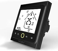 MOES - Termostato inteligente, control por voz, caldera de gas, termostato para radiador, WiFi 5 + 2, termostato programab...