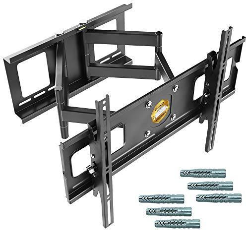 RICOO Starke TV Fernseher-Wand-Halterung Schwenkbar Neigbar (R06-F) Universal für 40-75 Zoll (bis 95-Kg, Max-VESA 600x400) Fernsehhalterung LCD OLED Curved Bildschirm