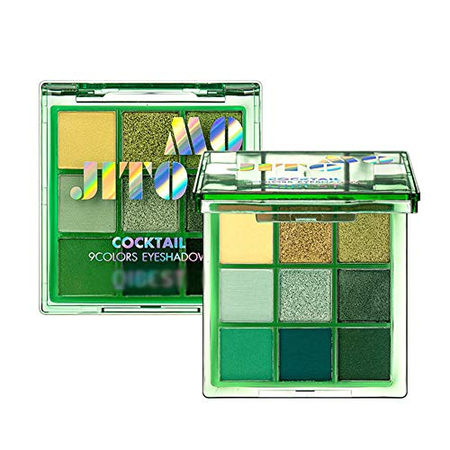 Qianren 9 Farben Cocktail Lidschatten Palette Schimmer matt Langlebiges, kräftiges Make-up...