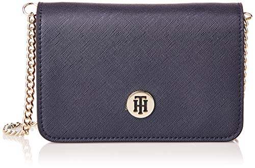 Tommy Hilfiger Damen Honey Belt Bag Cb Umhängetasche, Blau (Tommy Navy Mix), 11.1x17.2x6cm