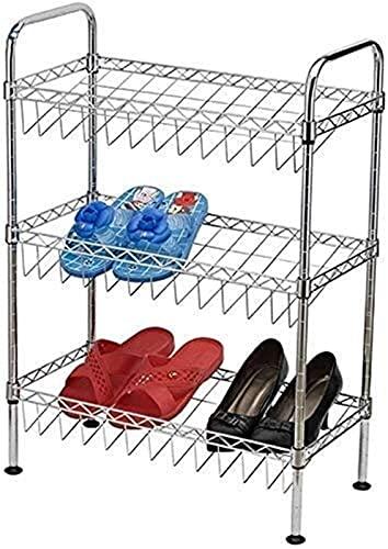 KCGNBQING Zapato estante zapatería familia zapatos simple y práctico zapatos zapato zapato vertical zapato estante simple familia zapatos prácticos accesorios marco 3 almacenamiento separado compartim