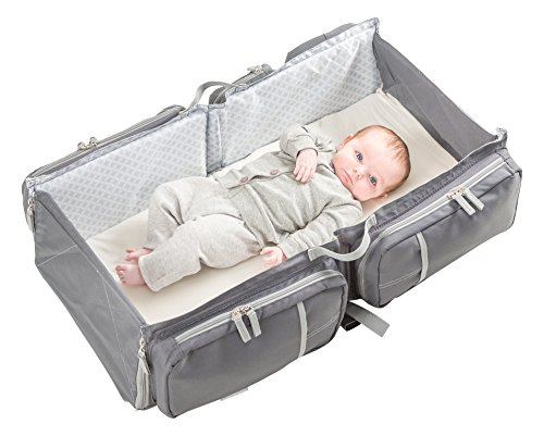 Doomoo Basics Baby Reisetasche/Reisebett Grau