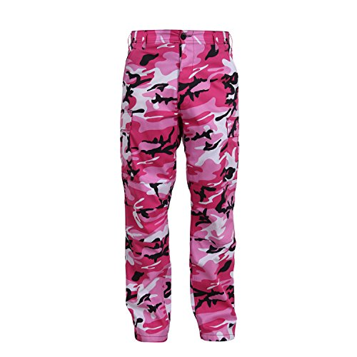 Rothco Camo Tactical BDU (Battle Dress Uniform) Military Cargo Pants, Pink Camo, M