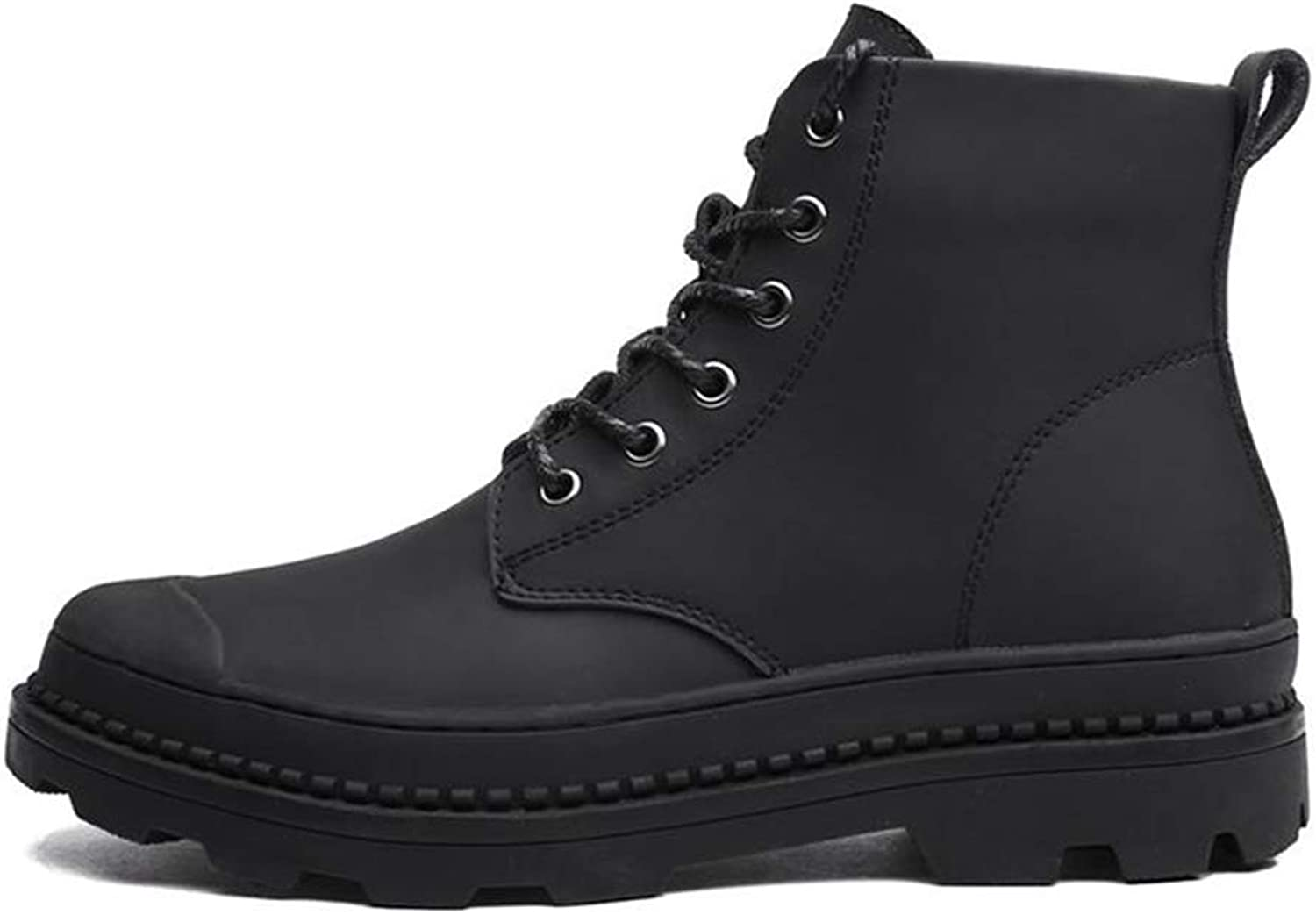 Autumn Martin Boots Men Mid-Calf Genuine Leather shoes Men's Lace-Up Winter Boot